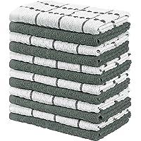 Utopia Towels - 12 Torchons de Cuisine - Serviettes de Cuisine 100% Coton - Lavable en Machine (38 x 64 cm) (Gris et…