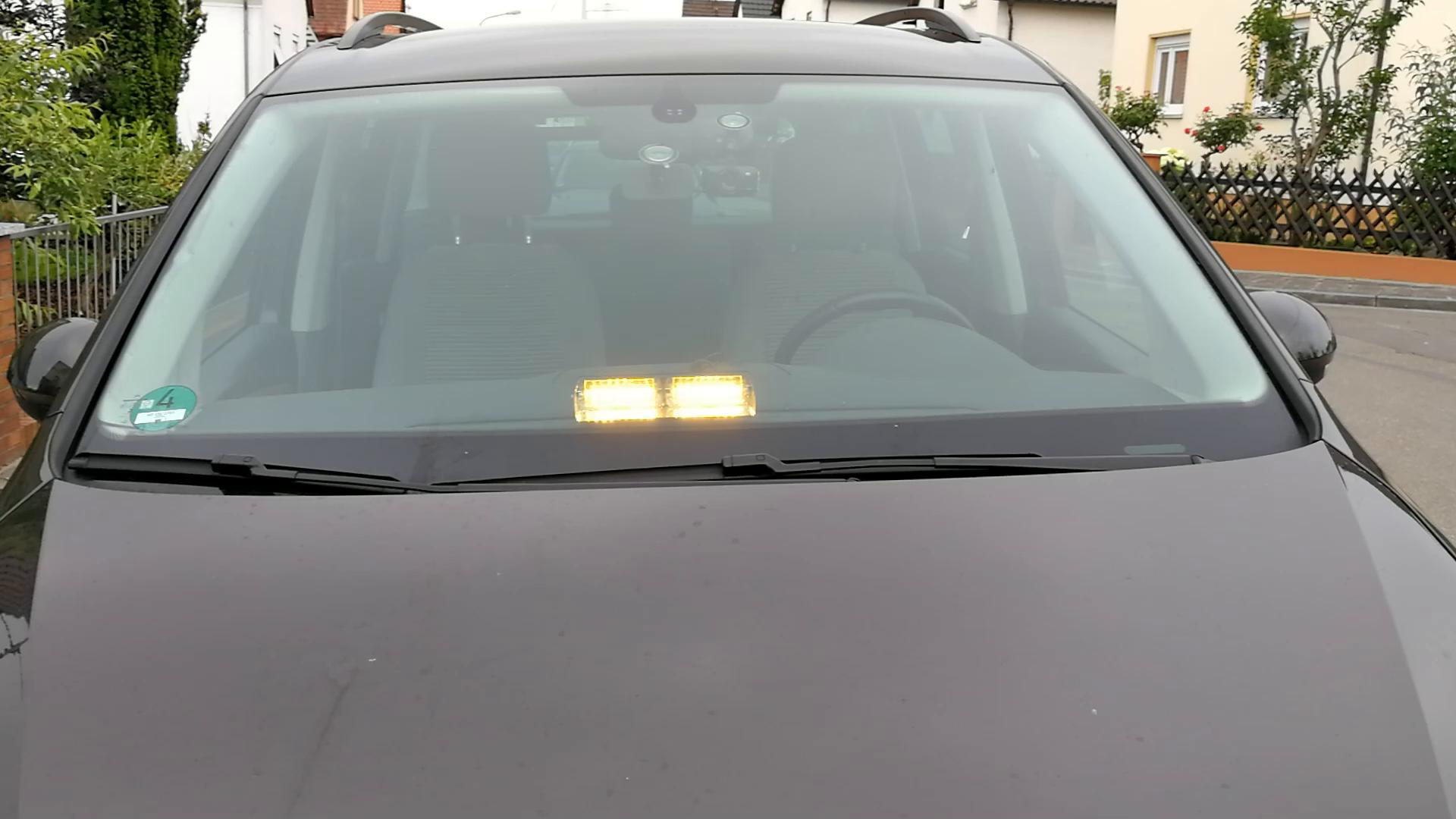 AMBOTHER® Frontleuchte 16 LED Auto Warnleuchte Blinker Warnlicht ...