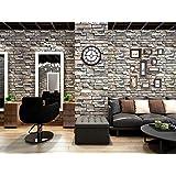 Homya imitation brick pattern self-adhesive wallpaper 45 * 600cm PVC bedroom, living room, wall, decorative furniture renovat