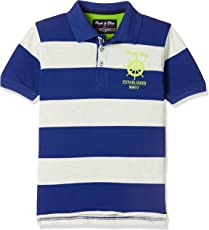 Pink & Blue By fbb Boys' Striped Regular Fit T-Shirt
