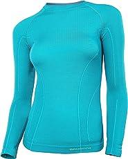 BRUBECK® ACTIVE WOOL Damen Langarm-Shirt (41% Merino-Wolle Anti-allergisch Antibakteriell)