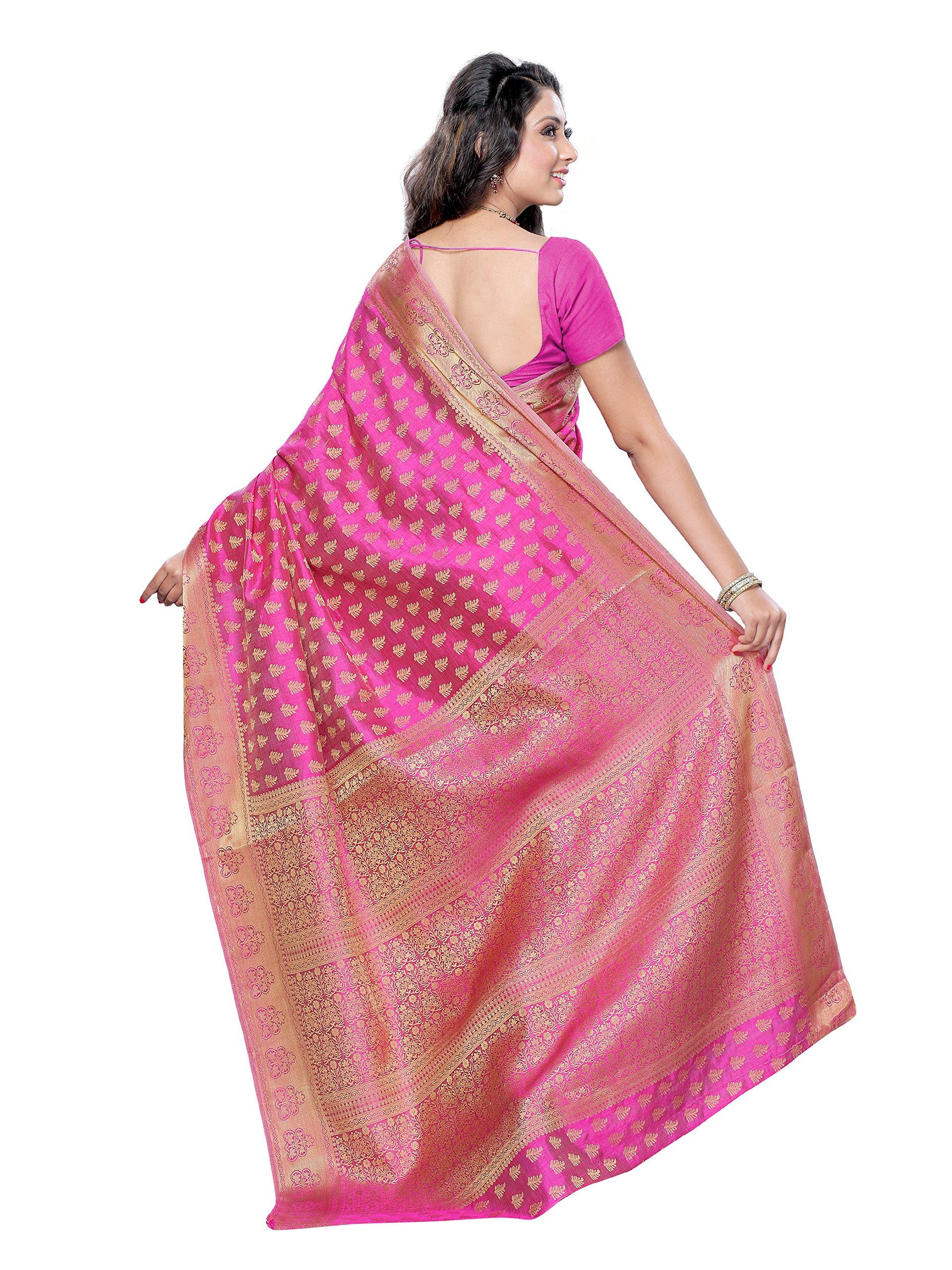e6cada5416d2c1 MIMOSA Women's Art Silk Saree with Blouse Piece, Free Size (2038 ...
