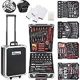 TRESKO® gereedschapskoffer 949-delig | gereedschapskast | gereedschapskist | gereedschapstas | gereedschapsset | gereedschapt