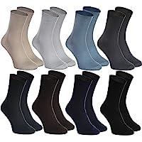 Rainbow Socks - Donna Uomo Calze Diabetici Senza Compressione - 8 Paia