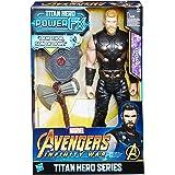 Hasbro Avengers E0616EW0 - Marvel Titan Hero Thor Actionfigur, mit Power FX Pack