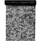 Santex 4721 Chemin de Table Fantaisie Brillant Polyester Noir