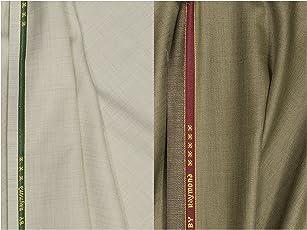 Raymond Men's Polycotton 1.2m Unstitched Trouser Fabric (QUEST_COM18, Minmatch, Free Size) - 2 Pieces