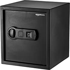AmazonBasics - Biometrischer Tresor mit Fingerabdruck-Verschlusssystem, 0,04 m³