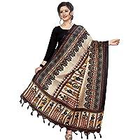 Sidhidata Textile Women's Khadi Cotton Silk Dupatta With Jhalar/tassels