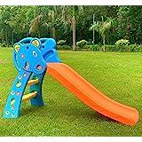 BabyGo Nara Toy Slide for Kids- Foldable Playground Plastic Slide Jhula - Junior Play Toddler Slide - Indoor & Outdoor Backya