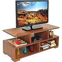 BLUEWUD Victor TV Unit/Entertainment Center Table (Walnut)