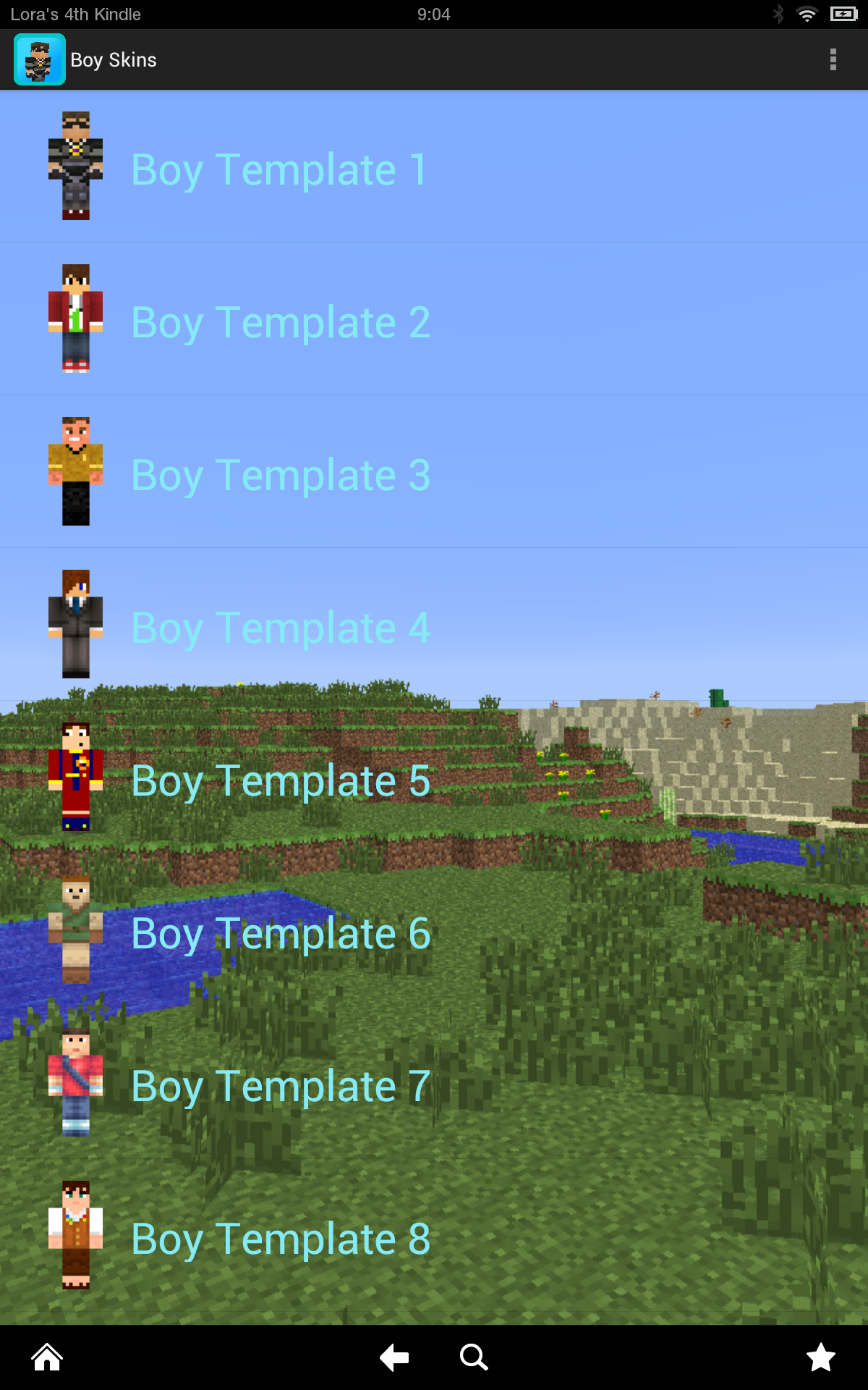 Boy Skins Deluxe For Minecraft Kindle Fire Hd Amazon Co