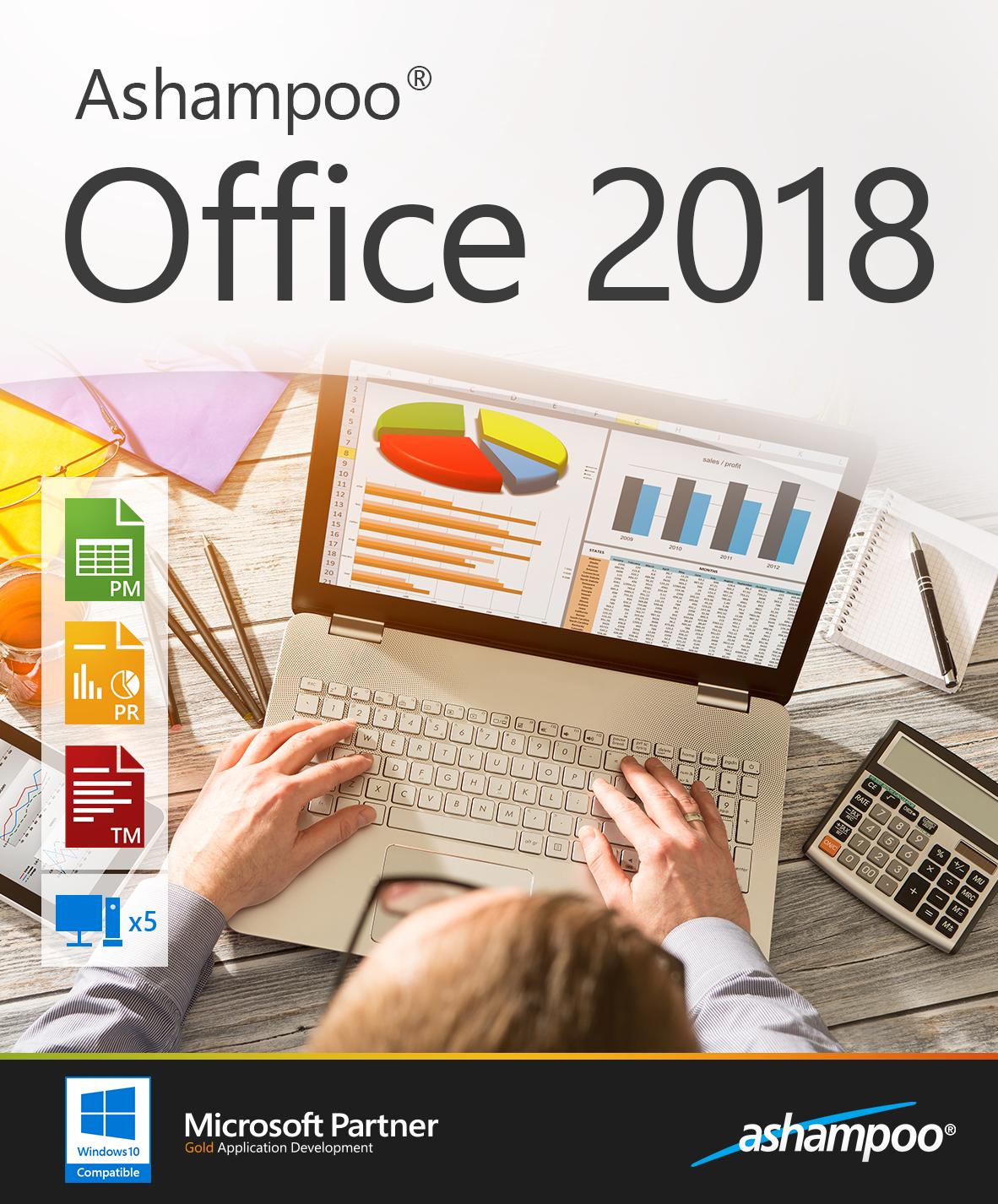 Ashampoo Office 2018 - 5 PCs in einem Haushalt - Pc-präsentation-software