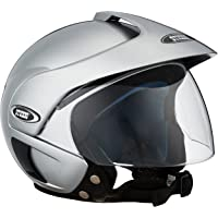 Studds Marshall SUS_MOFH_SGRYL Open Face Helmet (Silver Grey, L)