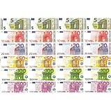 Spielgeld - 120 Verschiedene Euro-Scheine in 5€, 10€, 20€, 50€, 100€, 200€ | von DEKOSPASS // Rechnen Lernen Kaufmannsladen S