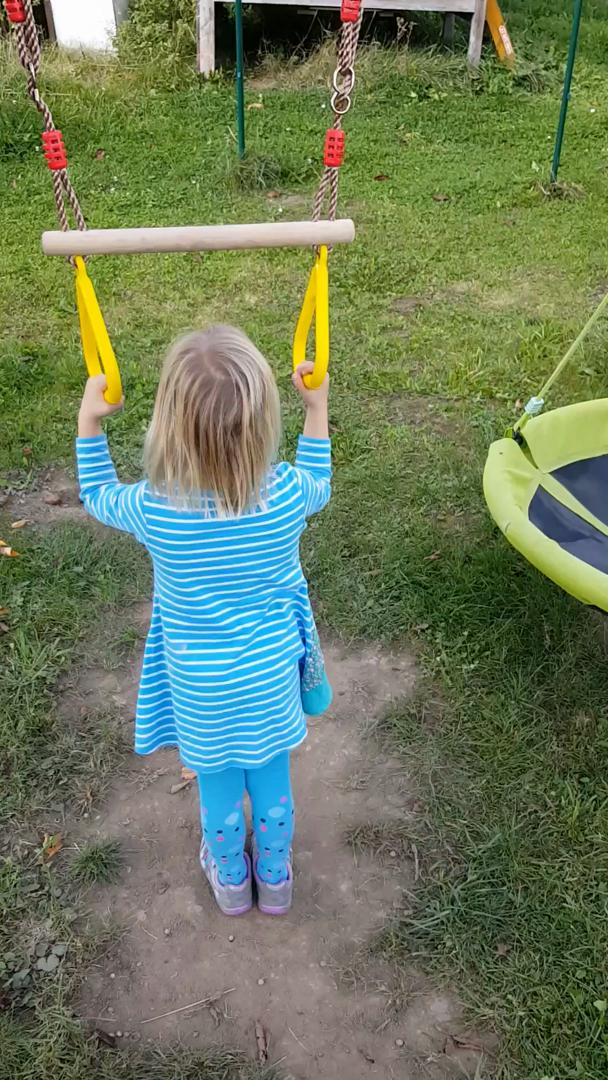 Pellor Multifunktions -Kinderholz Trapeze Schaukel mit Kunststoff ...