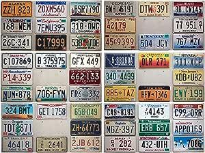 50 Nummernschilder Set Der Usa Staaten Us License Plates Lot Blechschilder Sammlung Mit Kfz Kennzeichen Auto