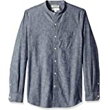 Amazon Brand - Goodthreads Men's Slim-fit Long-sleeve Band-collar Band-collar Chambray Shirt Long Sleeve Button Down Shirt