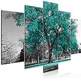 murando Impression sur Verre Acrylique Arbre 100x50 cm 5 pieces Imprimée Tableau Photo Image Pret a Accrocher Murale Moderne