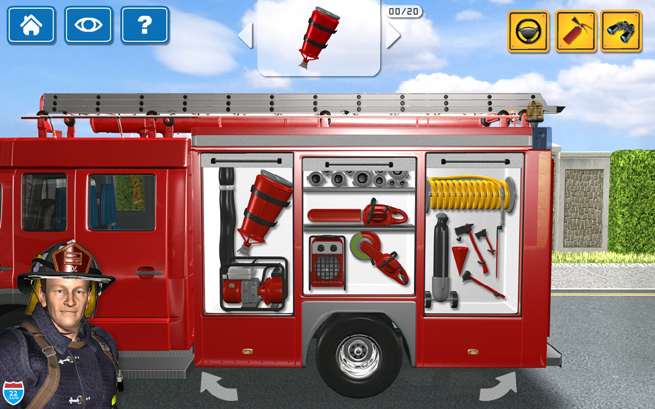 Kids Vehicles 1: Interactive Fire Truck - Animated 3D