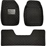 al Baroon Car Floor Mat 3Pcs With Diamond Beige/Black