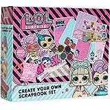 L.O.L. Surprise! Kit Manualidades Niños Scrapbooking, Incluye Pegatinas Album Scrapbook Purpurina y Pegamento, Actividades Cr