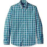 قمصان رجالي بياقة مطوية بأزرار من Cutter & Buck مقاس كبير منقوش ومتأكد من سهولة العناية بها