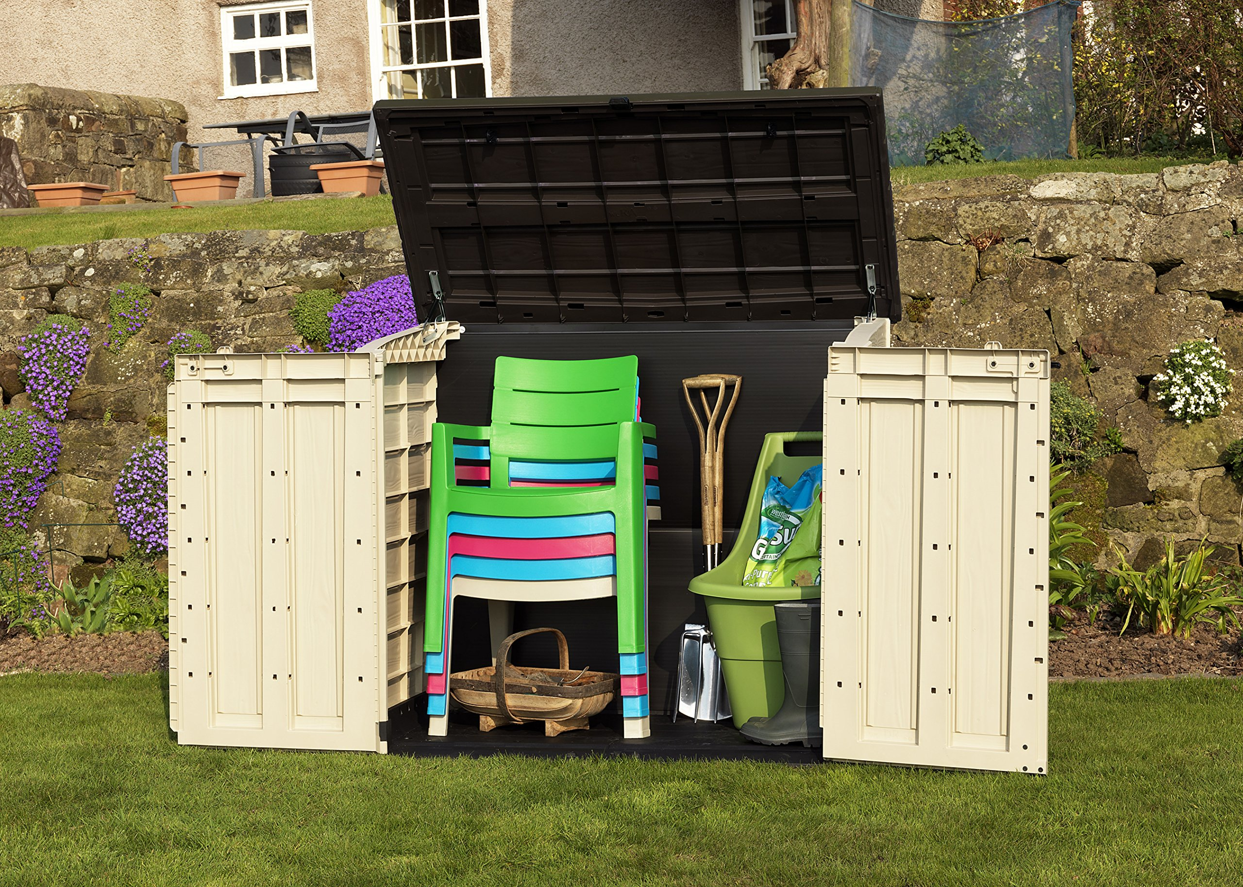 keter store it out max outdoor plastic garden storage shed. Black Bedroom Furniture Sets. Home Design Ideas
