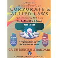 A Handbook On Corporate & Allied Laws (For CA Final Old Syllabus) 26th Edition 2020