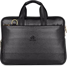 The Clownfish Synthetic 8 Ltr Black Laptop Briefcase