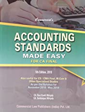 Commercial's Accounting Standards Made Easy for CA Final (As Per Old Syllabus for November 2018/May 2019)