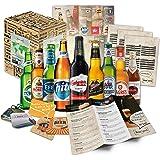 """Boxiland """"BIERE DER WELT"""" Geschenkidee für Männer inklusiv Bierdeckel + Geschenkkarton + Bier, 1er Pack (1 x 2970 ml)"""