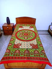 Rajasthan Crafts Premium Double Bed Quilted Mattress Protector
