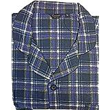 KENTEX Men's Traditional Warm Flannel Pyjama Set Thermal 100% Cotton napped Flannelette M L XL XXL 3XL 4XL 5XL