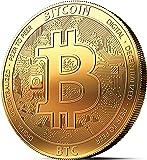innoGadgets Physische Bitcoin Medaille mit 24-Karat Echt-Gold überzogen. Wahres Sammlerstück mit Münzkapsel - Kollektion 2018. EIN Muss für jeden Krypto-Fan