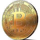 innoGadgets Fysieke Bitcoin-medaille. Echt verzamelobject met muntcapsule. Een must voor elke crypto-fan (Bitcoin 2018)