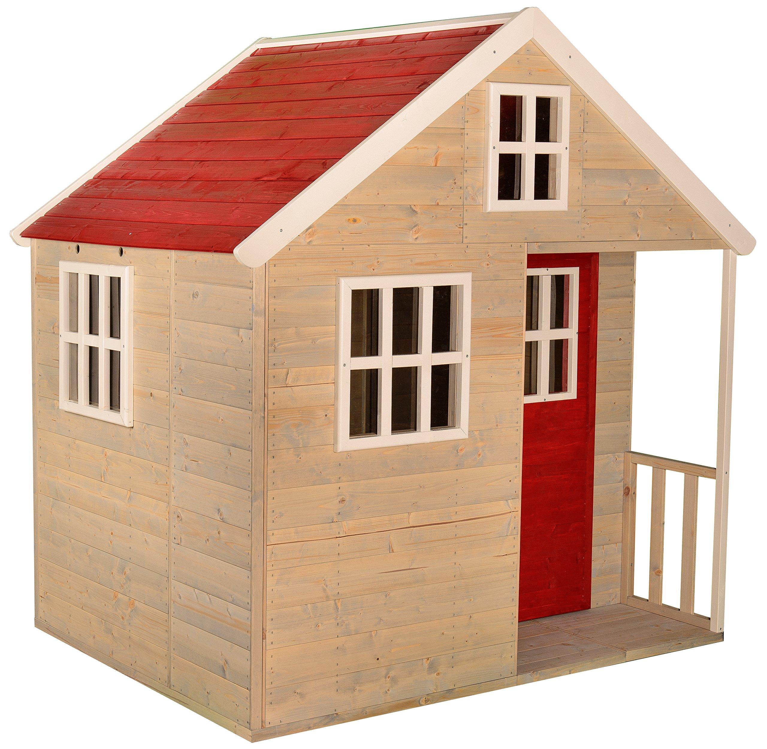 Wendi Toys Casetta Per Bambini In Legno Villa Nordica Per Giardino