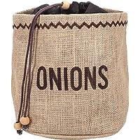 Kitchen Craft JVOS Onion Bag with Blackout Lining, Fabrique, Brun, 9 x 12 x 16 cm