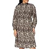 Marca Amazon - find. Snake Print Dress, Vestido de Fiesta para Mujer