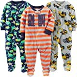 Simple Joys by Carter's Baby Boy's Footed Fleece Zipped Sleepsuit, Pack of 3