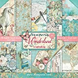 """Stamperia Bloc Papier Scrap double Face 10 feuilles 30,5x30,5 (12""""x12"""") - Wonderland multicolore SBBL38"""