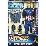Hasbro Avengers E0607100 - Marvel Titan Hero Power FX Captain America Actionfigur, dt. Version