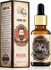 Captain Thug Medieval Beard Growth Oil - Ultra Premium - 9 Essential Oils - Promotes Beard and Mustaches Growth for Men - 30 ml