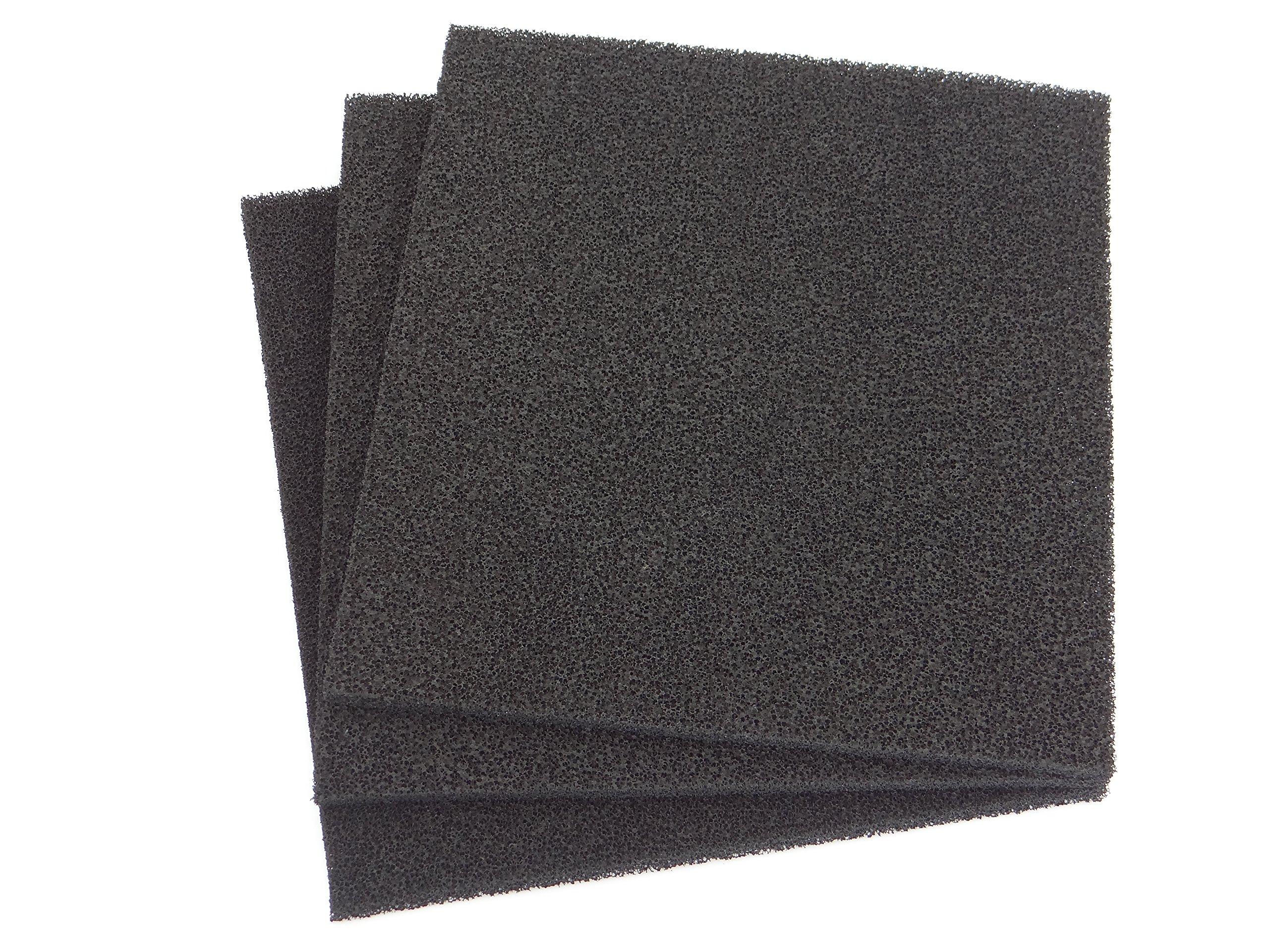 Carbone attivo 2�x 1�m x spessore circa 5�mm ppi 30�universale filtro a carbone attivo filtro in gom