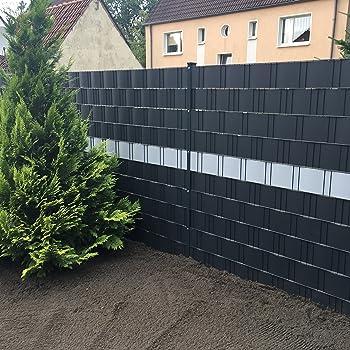 profi sichtschutz 50 meter 1 1 mm pp kunststoff anthrazit fur gittermatte zaun gartenzaun stahlmattenzaun