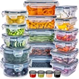 Lot de 40 [20 Récipient + 20 Couvercle] Boite Hermetique Alimentaire - Reutilisable Boite Conservation Alimentaire - Boite Al