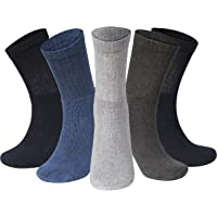Kensington® 10 Pairs Men Sport Socks Size 6-11 Thick Cotton Cushion Crew Compression Ankle Large Pack For Under Trainer…