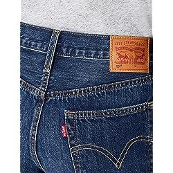 Levi s 501 Short Pantalones Cortos para Mujer Azul Echo Park 0038 W28