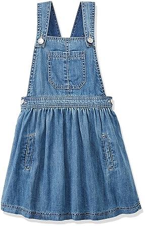 0b0b4bb07547 RED WAGON Girl's Denim Pinafore Dress: Amazon.co.uk: Clothing