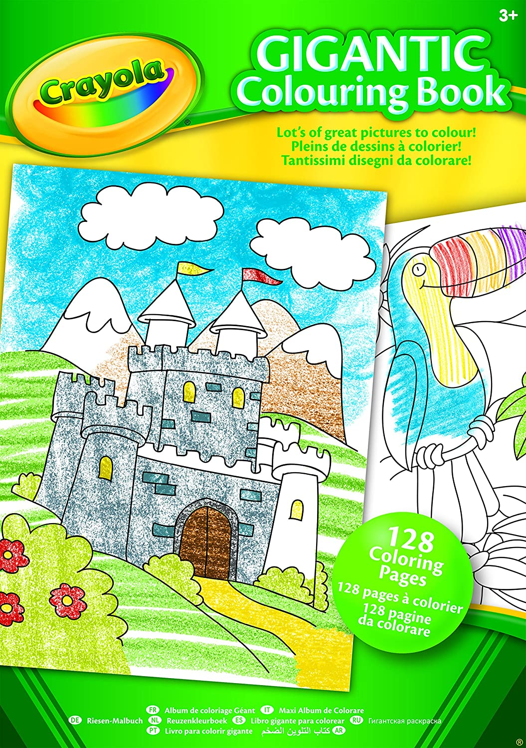 crayola a4 gigantic colouring book amazon co uk toys u0026 games
